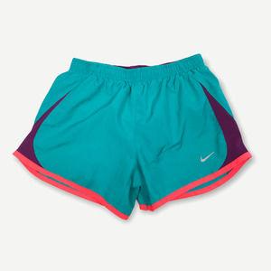 Nike Dri Fit Girls Teens Teal Purple 5K Tempo Running Shorts Size Medium 716734
